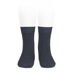 Plain stitch basic short socks COAL