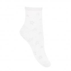 Ceremony star ankle socks with metallicyarn