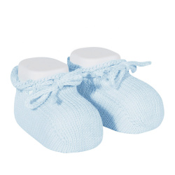 Booties with cord BABY BLUE
