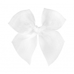 Hairclip with organza bow WHITE