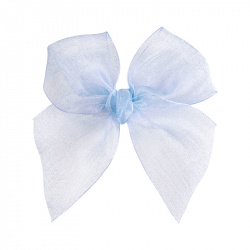 Hairclip with organza bow BABY BLUE