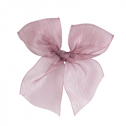 Hairclip with organza bow PALE PINK