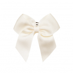 Hair clip with small bow BEIGE