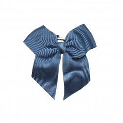 Hair clip with small bow FRENCH BLUE