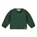Garter stitch cardigan BOTTLE GREEN