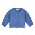 Garter stitch cardigan FRENCH BLUE