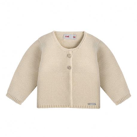 Garter stitch cardigan LINEN