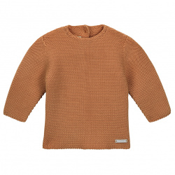 Garter stitch sweater CINNAMON