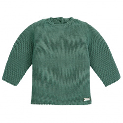 Garter stitch sweater LICHEN GREEN