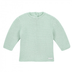 Garter stitch sweater PASTEL GREEN