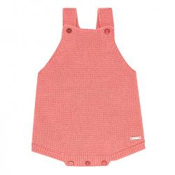 garter stitch baby romper PEONY