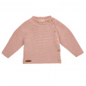 Button-front garter stitch sweater OLD ROSE