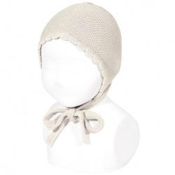 Garter sttich classic bonnet LINEN