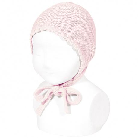 Garter sttich classic bonnet PINK