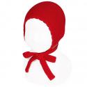 Garter sttich classic bonnet RED