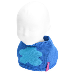 Baby cloud snood-scarf ELECTRIC BLUE