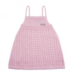 Spike stitch openwork dress PINK
