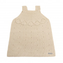 Links stitch openwork dress LINEN