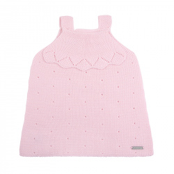 Links stitch openwork dress PINK