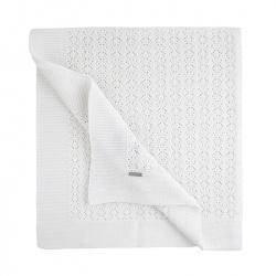 Shell openwork shawl WHITE