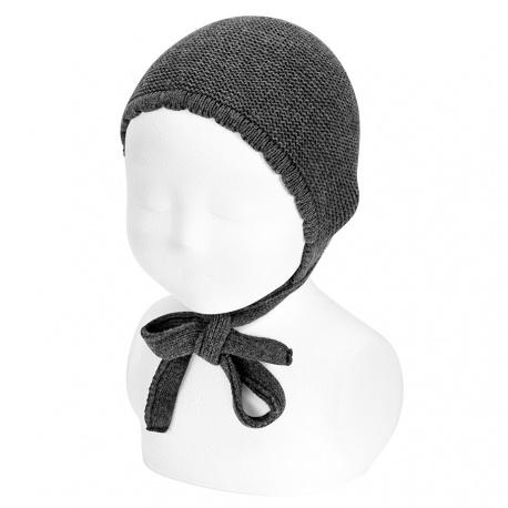 Garter sttich classic bonnet ANTHRACITE