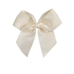 Hairclip with grossgrain bow BEIGE