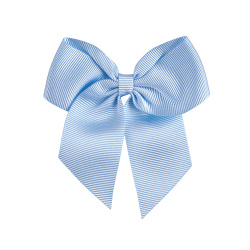 Hairclip with grossgrain bow BABY BLUE