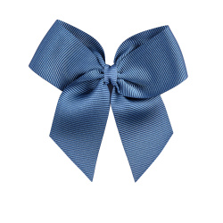 Hairclip with grossgrain bow FRENCH BLUE