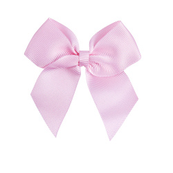 Hairclip with grossgrain bow PINK