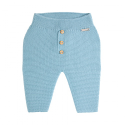 Garter stitch trousers with buttons CLOUD