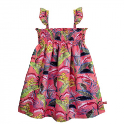 Chic bananas quick dress with smock CORALLINE