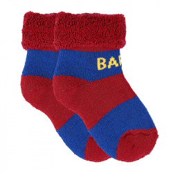 Baby non-slip short socks with folded cuff