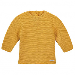 Garter stitch sweater MUSTARD
