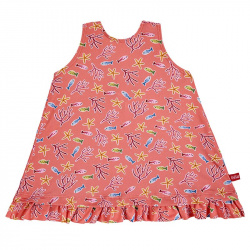 Under the sea upf 50 sun dress with back bow CORALLINE