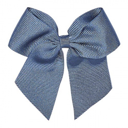Hair clip with grossgrain bow FRENCH BLUE