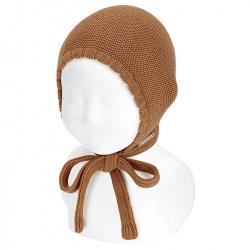 Bonnet point mousse en coton CANNELLE