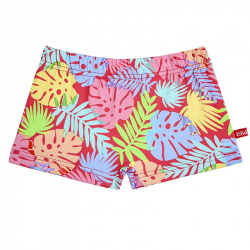 Caribe upf 50 boxer swimsuit RED