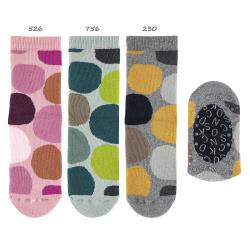 Non-slip socks with irregular polka dots