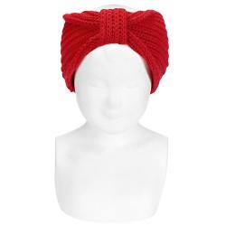 English stitch hair turban RED