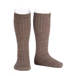 Merino wool-blend rib knee socks TRUNK