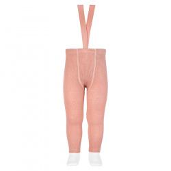 Merino wool-blend leggings w/elastic suspenders MAKE-UP