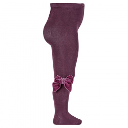 Tights with side velvet bow BURDEAUX