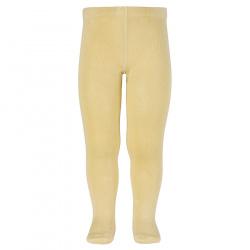Plain stitch basic tights BANANA