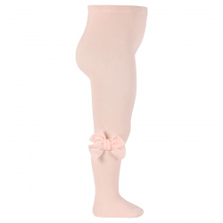 Tights with side velvet bow NUDE