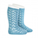 Openwork warm knee-high socks