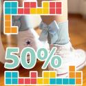 Sales hosiery 50%