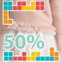 Knitwear sales 50%